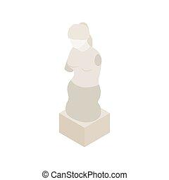 Aphrodite of Milos icon, isometric 3d style
