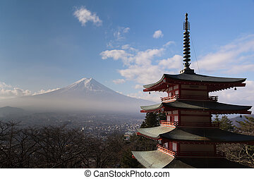 Mt. Fuji with Chureito Pagoda