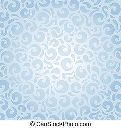 Blue seamless vector retro pattern