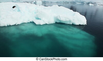 A small iceberg floating in waters of Antarctica. Amazing...