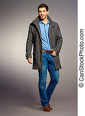 male fashion - Full length portrait of a handsome man...