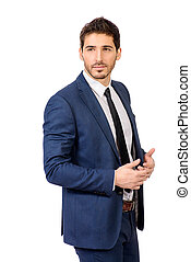 respectable man - Fashion shot of a handsome man wearing...