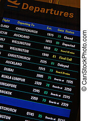 ready to go - departure sign at airport lounge