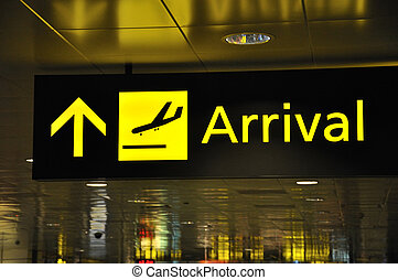go this way - directions for passengers at international...