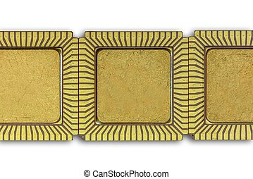 A backgrpund with Vintage ceramic CPU - Background made of...