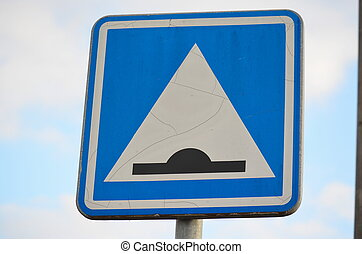 traffic sign, cross retarder, South Bohemia, Czech Republic