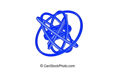 Blue Wire Frame Circle Abstract - Loopable Blue Wire Frame...