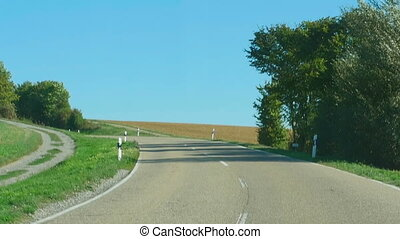 Country road in Germany, Baden-Wurttemberg