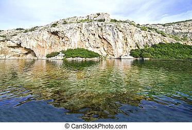 Vouliagmeni lake in Attica Greece - Vouliagmeni lake Attica...