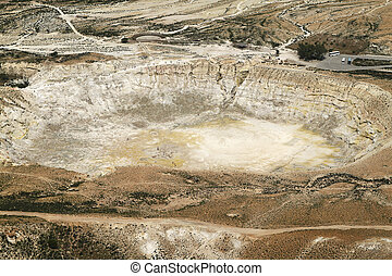 Stefanos crater. The volcano on the island of Nisyros.