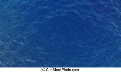 top view of a blue water waves