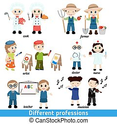 gosses, professions,