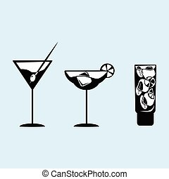 Vector images cocktails