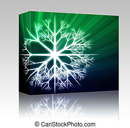 Snowflake illustration box package