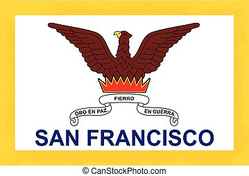 San Francisco City Flag - The flag as adopted by the city of...