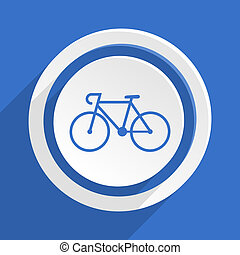 bicycle blue flat design modern icon