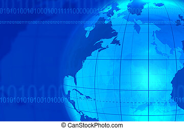 Blue businesscommunication background