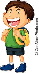 Little boy with big smile illustration