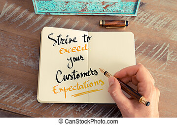 Text Strive To Exceed Your Customers Expectations