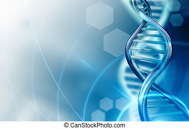 DNA strands background - Abstract science background with...