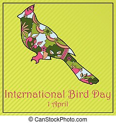 Bird day with cardinal - Vector background bird day with...