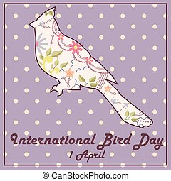 Bird day with cardinal vintage - Vector background bird day...