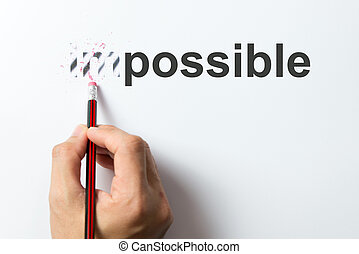 Change from impossible to the possible - Changing the word...
