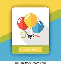 party balloon flat icon