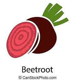 Beetroot icon on white background Vector illustration