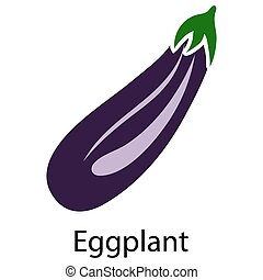 Eggplant icon on white background. Vector illustration.
