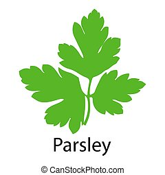 Parsley icon on white background Vector illustration