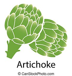 Artichoke icon on white background. Vector illustration.