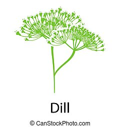 Dill icon on white background Vector illustration