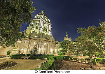 The beautiful Pasadena City Hall near Los Angeles,...