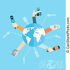 Journalism concept in flat style - Journalism concept vector...