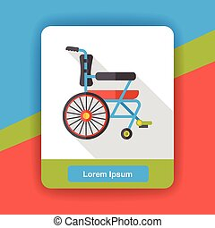 Wheel chair flat icon