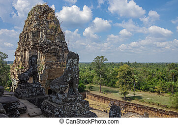 Ruins of Pre Rup, one of famous ancient Angkor temples in...