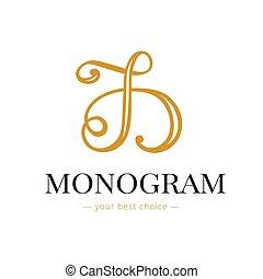 Vector elegant hand lettered D letter monogram logo Boutique...