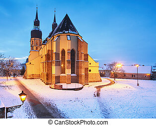 Trnava church, Slovakia - Saint Nicolas at winter