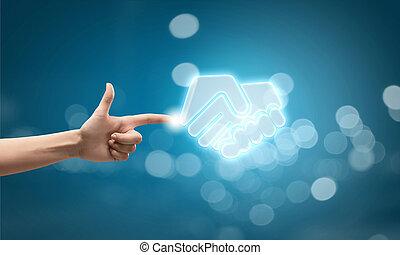 Partnership conceptual icon