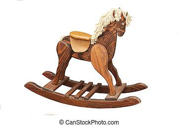 Vintage Rocking Horse - A Vintage Wooden Rocking Horse...