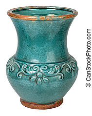 Old earthenware ceramic vase