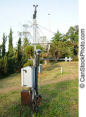 Meteorological station in mountain field