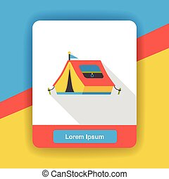 camp tent flat icon