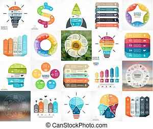 Circle infographics Business diagrams, arrows graphs, blur...