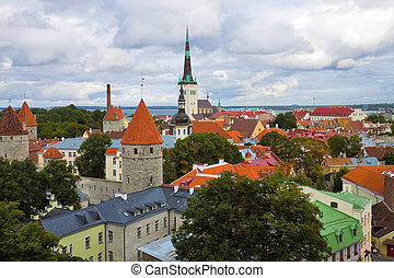 Panorama of Tallinn, Estonia