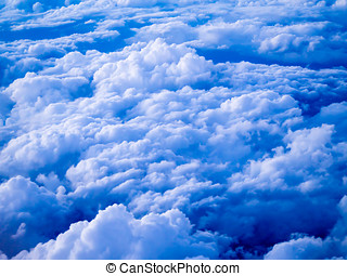 Aerial view of stratocumulus clouds in the evening - An...