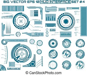 Graphic touch user interface HUD. - Abstract future, concept...