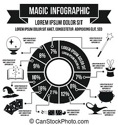 Magic infographic, simple style - Magic infographic in...
