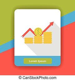 stock money flat icon